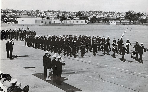 Company 78-031 Recruits Passing in Review