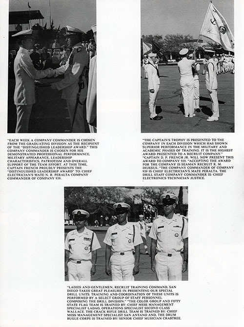 Company 65-472 San Diego NTC Recruits, Commanding Officers, Petty Officers, Graduation Day, Page 7.
