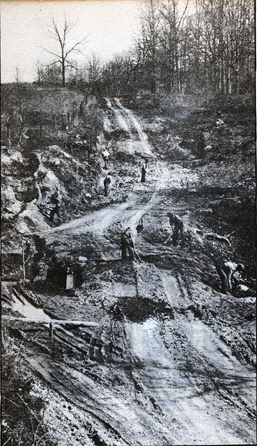 WPA Workers Building Farm-To-Market Road.
