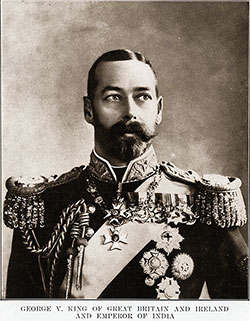 Portrait Photograph of George V, King of Great Britain and Ireland, and Emperor of India.