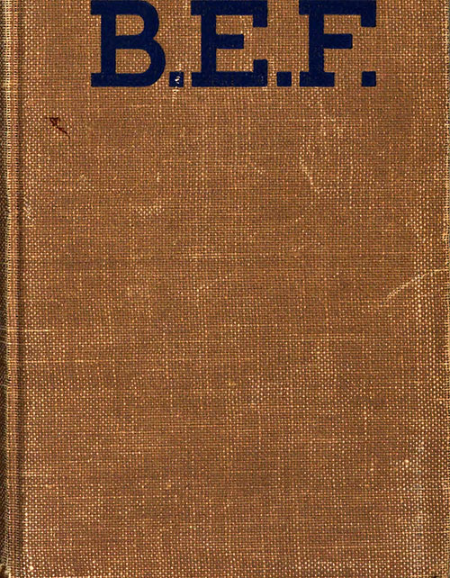 Front Cover, B.E.F. The Whole Story of the Bonus Army, 1933, from Original Printing.