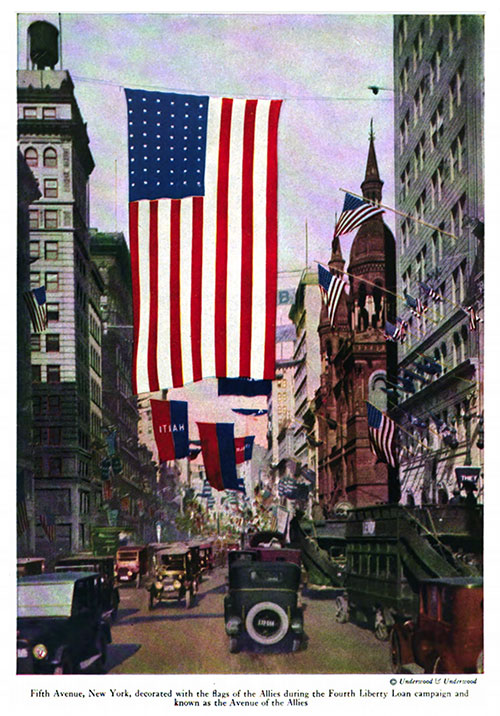 Fifth Avenue, New York, Decorated with the Fags of the Allies during the Fourth Liberty Loan Campaign and Known as the Avenue of the Allies.