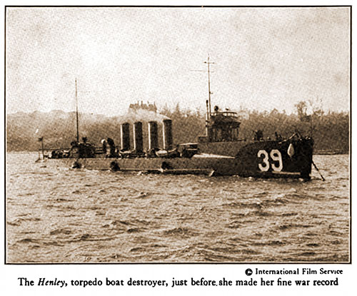 The Henley, Torpedo Boat Destroyer, Just before She Made Her Fine War Record.