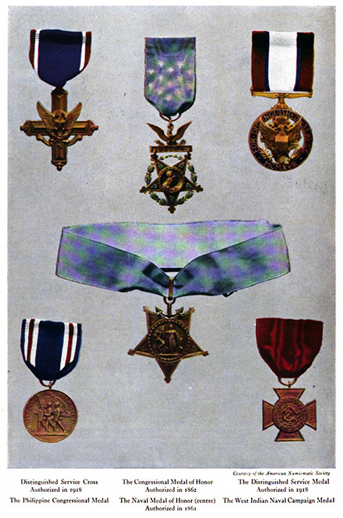 Various Medals of Honor from the Allied Navies.