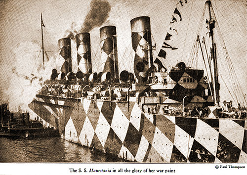 The SS Mauretania in All the Glory of Her War Paint.