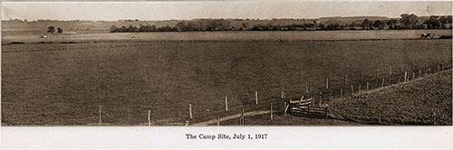 The Camp Site 1 July 1917. Camp Grant of Rockford, Illinois, 1917.
