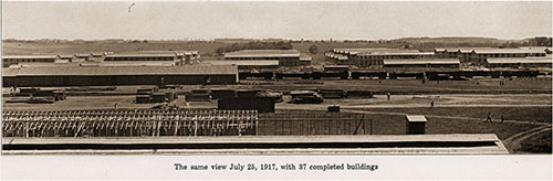 The Same View 25 July 1917 with 37 Completed Buildings. Camp Grant of Rockford, Illinois, 1917.
