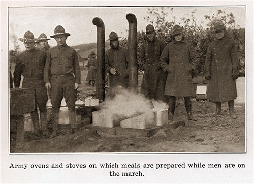Army Ovens and Stoves on Which Meals Are Prepared While Men Are on the March.