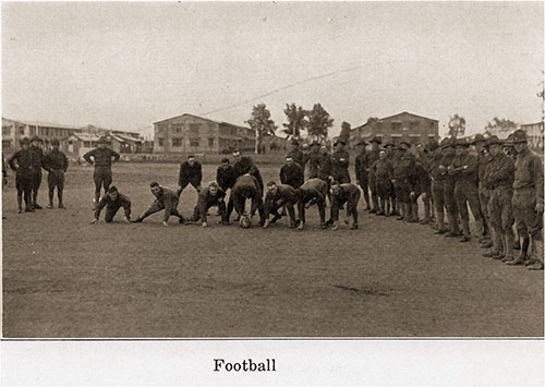 A Game of Football Is a Favorite amongst the Soldiers.