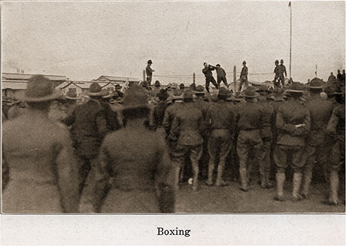Boxing Matches Always Draw Large Crowds.