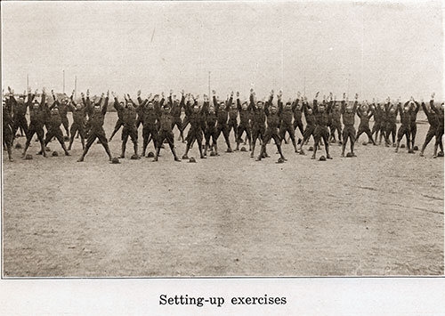 The Soldiers Get Plenty of Calisthenics with Setting-up Exercises.