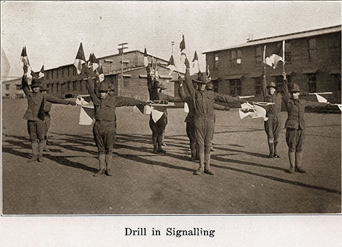 The Soldiers Drill in Signalling.