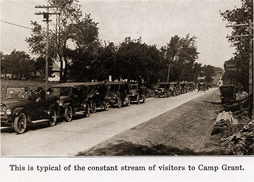 This Is Typical of the Constant Stream of Visitors to Camp Grant.