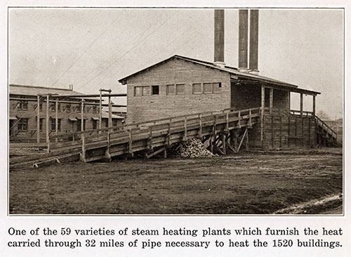 One of the 59 Varieties of Steam Heating Plants That Furnish the Heat Carried through 32 Miles of Pipe Necessary to Heat the 1,520 Building.