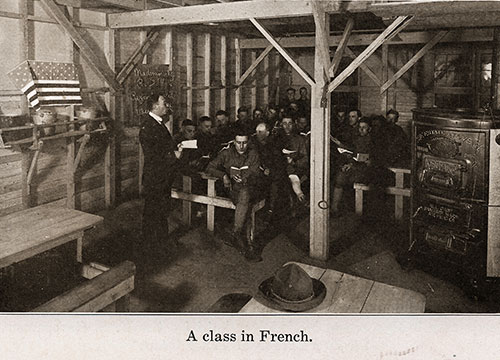 The Soldiers Attending a Class in French.