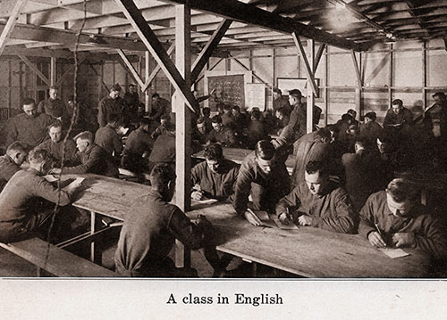 Soldiers Attend a Class in English.