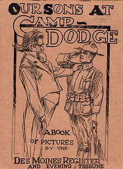 Front Cover, Our Sons at Camp Dodge: A Book of Pictures by the Des Moines Register and Evening Tribune, 1917.