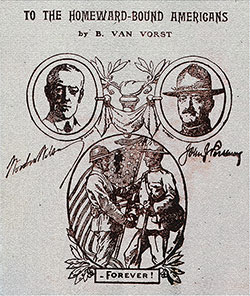 Front Cover (Title Portion), To The Homeward Bound Americans by V. Van Vorst, 1919.