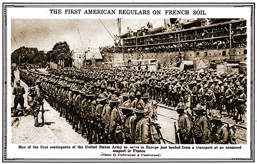 The First American Regulars on French Soil.