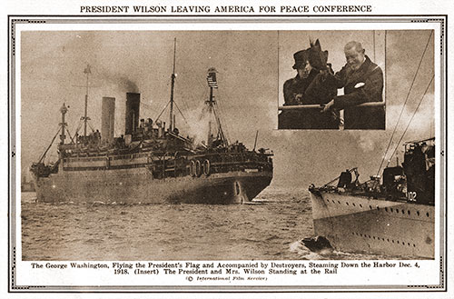President Wilson Leaving America for Peace Conference.