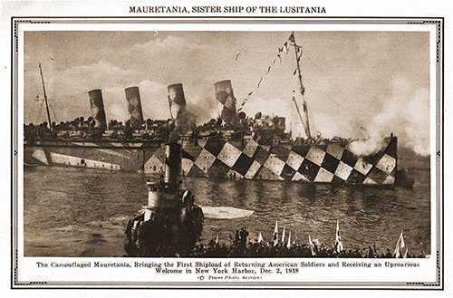 Mauretania, Sister Ship of the Lusitania.
