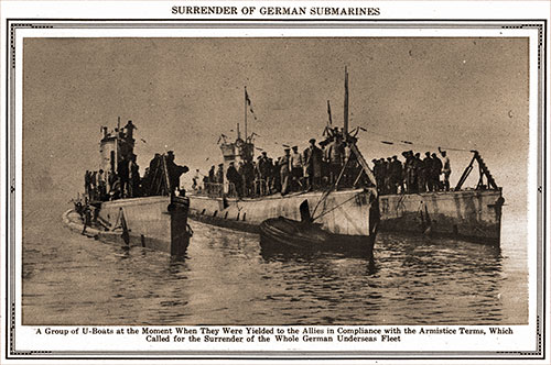 Surrender of German Submarines.