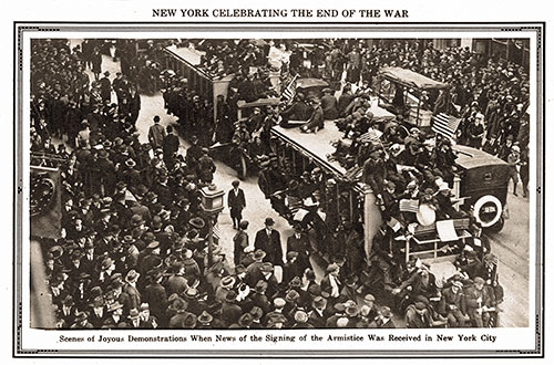 New York Celebrating the End of the War.