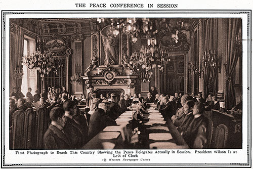The Peace Conference in Session.
