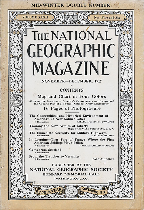 Front Cover, The National Geographic Magazine, Washington, DC: National Geographic Society, Volume XXXII, Numbers 5 & 6, November-December 1917.