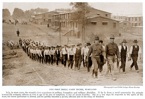 The First Drill: Camp Meade, Maryland.