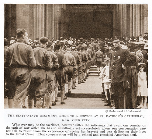 The Sixty-Ninth Regiment Going To a Service at St. Patrick's Cathedral, New York City.