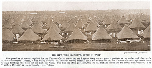 The New York National Guard in Camp.
