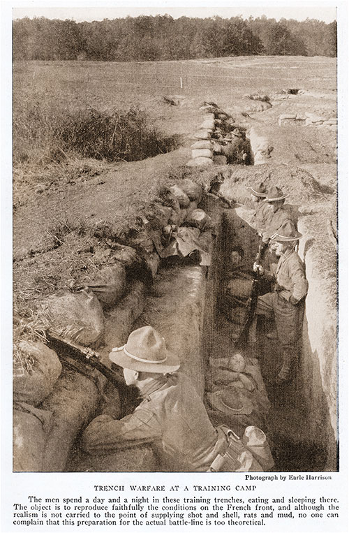Trench Warfare at a Training Camp.