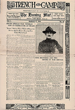Front Page of a Trench and Camp Newspaper Printed Weekly for the YMCA