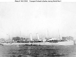 The USAT Finland, a Transport Ship During WW1, in Harbor.