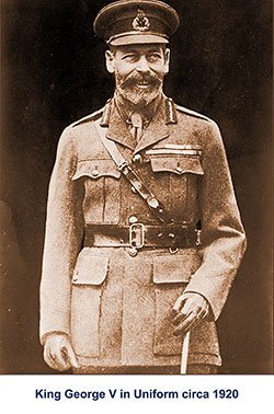 King George V in Uniform circa 1920.