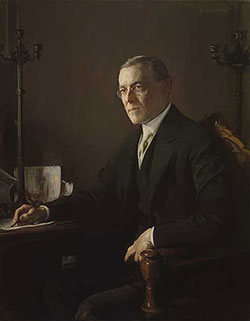 Painting of President Woodrow Wilson by Edmund Charles Tarbell, Oil on Canvas, 1920-1921.
