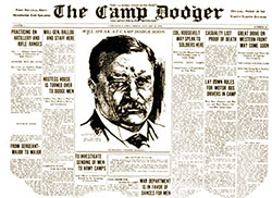 The Camp Dodger - a Camp Dodge Newspaper Shows the Format of a Typical Front Page