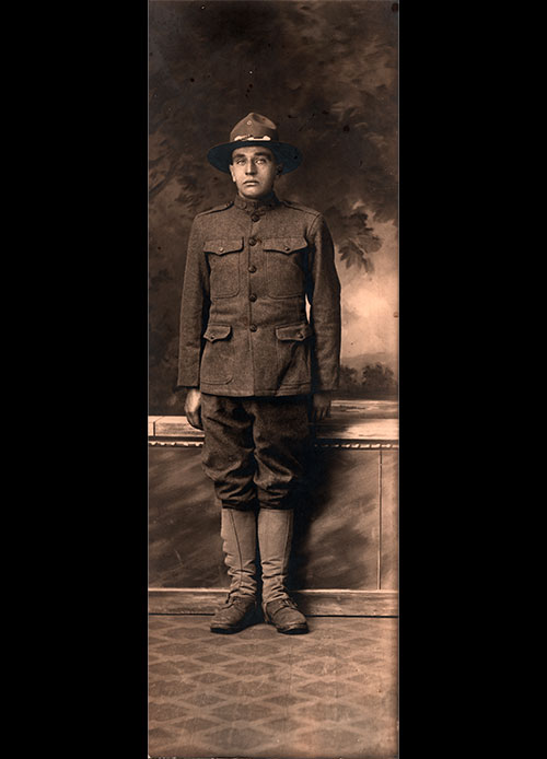 Corporal Ludvig K. Gjenvick, Company C, 346th Infantry, 87th Division, National Army, American Expeditionary Force, 1918.