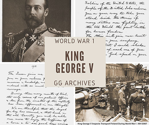 King George V in the Great War Including Correspondence and Photographs