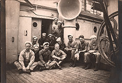 "Group of Sailors on the Transport Ship ""Princess Matoika"" a Few Days Before Reaching France, 13 May 1919."