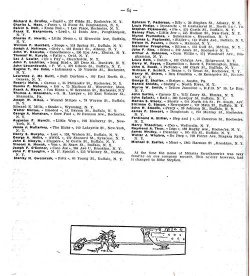 Page 2 of 2, Roster of Machine Gun Company, 346th Infantry, 87th Division of the AEF.