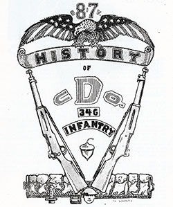 "Emblem of Company ""D,"" 346th Infantry, 87th Division, A.E.F."