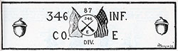 "Banner of Company ""E"" - 346th Infantry, 87th Division of the AEF."