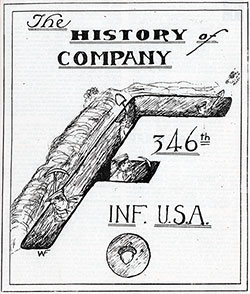 "Emblem for History of Company ""F"" of the 346th Infantry, 87th Division, AEF."