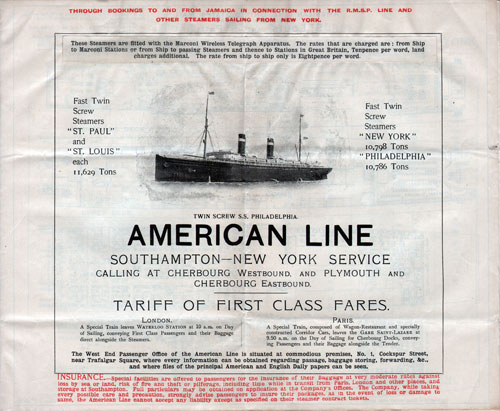 Southampton to New York Service 1908