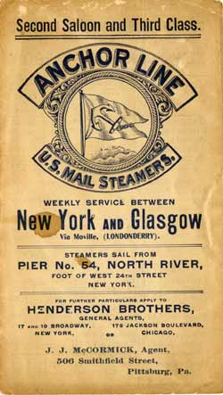 1902 Anchor Line Brochure