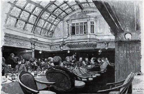 In the Grand Saloon of an Inman Steamer