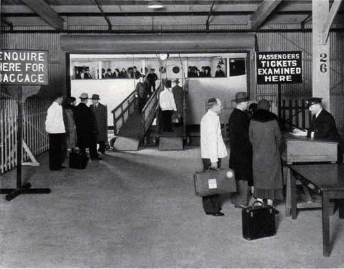 Passengers Checking in Before Embarking on the Baltimore Mail Line Steamships