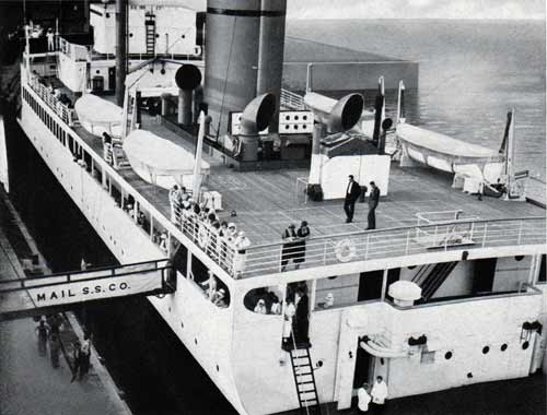 View of the Boat Deck from the landing stage.